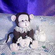 Мягкие игрушки ручной работы. Ярмарка Мастеров - ручная работа Мягкие игрушки: Обезьянка. Handmade.