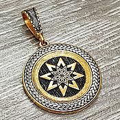 Украшения handmade. Livemaster - original item Amulet Alatyr. Gilding 999 and 925 silver art.Three million eleven thousand six hundred three. Handmade.