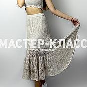 Материалы для творчества handmade. Livemaster - original item Master class on crochet openwork summer skirts cotton. Handmade.
