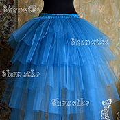 Одежда handmade. Livemaster - original item Skirt tulle adult with a train Wave. Handmade.