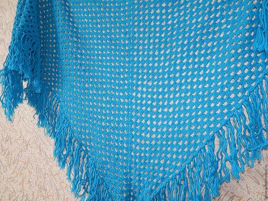 Шали, палантины ручной работы. Ярмарка Мастеров - ручная работа. Купить Голубая шаль. Handmade. Синий, шали и палантины