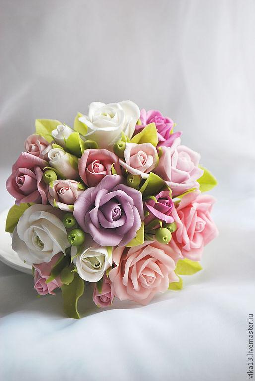 """Цветы ручной работы. Ярмарка Мастеров - ручная работа. Купить Букетик """"Чашечка роз 3"""". Handmade. Розовый"""