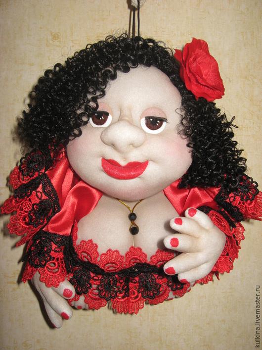 """Приколы ручной работы. Ярмарка Мастеров - ручная работа. Купить кукла-попик """" Кармен"""". Handmade. Разноцветный, кукла на удачу"""