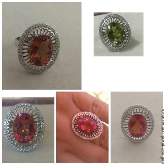 Кольца ручной работы. Ярмарка Мастеров - ручная работа. Купить Крупный серебряный перстень с султанитом. Handmade. Разноцветный, крупный султанит
