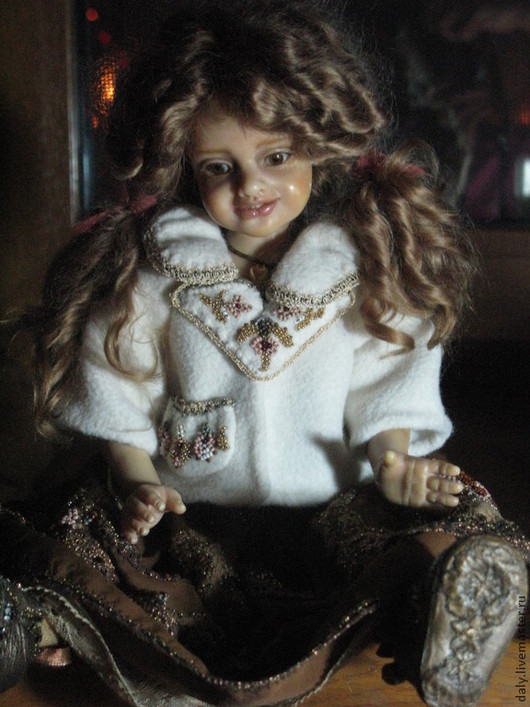 Коллекционные куклы ручной работы. Ярмарка Мастеров - ручная работа. Купить Сара. Handmade. Кукла, вышивка на одежде, кружево винтажное