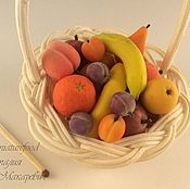 Куклы и игрушки handmade. Livemaster - original item Dollhouse fruit basket. miniature handmade.. Handmade.