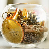 """Вазы ручной работы. Ярмарка Мастеров - ручная работа Новогодняя интерьерная ваза """"Пряный апельсин"""". Handmade."""