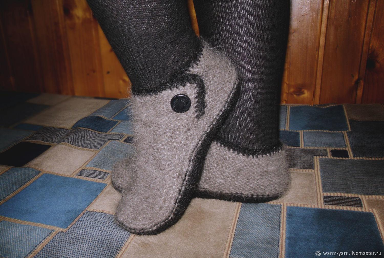 Women's knitted slippers, Socks, Klin,  Фото №1