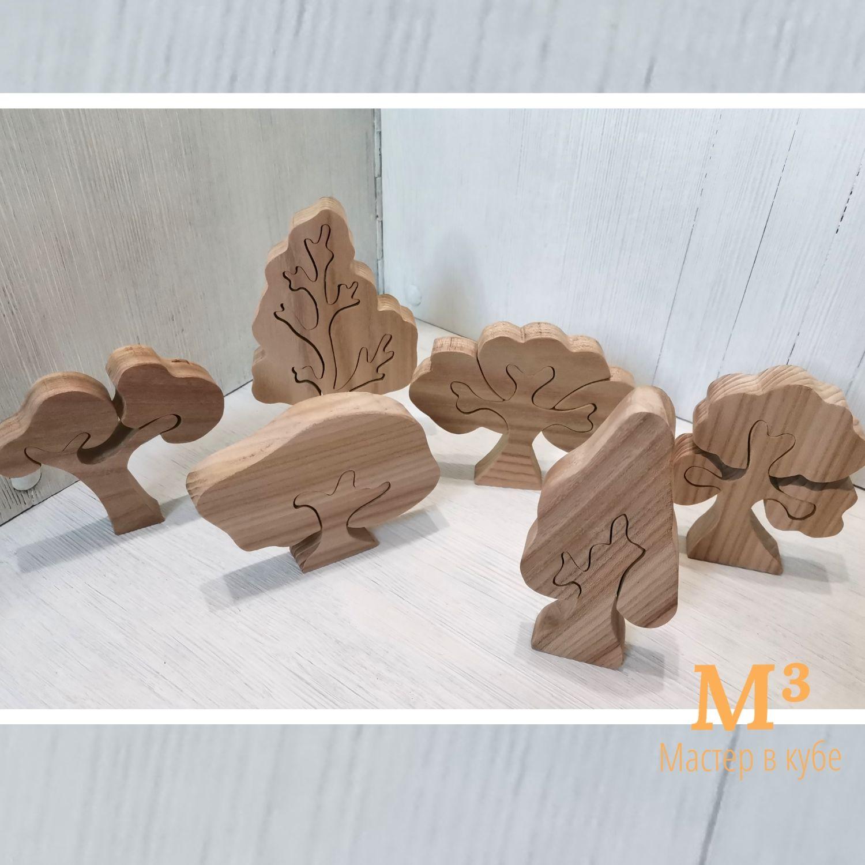 Деревья неокрашенные 6 в наборе, Вальдорфские куклы и звери, Иглино,  Фото №1