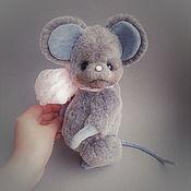 Тедди Зверята ручной работы. Ярмарка Мастеров - ручная работа Мышь Юми. Handmade.