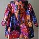 Одежда для девочек, ручной работы. Детский плащ с огромными цветами. Красивое-простое. Интернет-магазин Ярмарка Мастеров. Цветочный