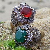 Украшения handmade. Livemaster - original item Oriental Ring with Chalcedony, Sliver 925!. Handmade.
