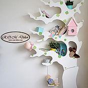 Для дома и интерьера ручной работы. Ярмарка Мастеров - ручная работа Асимметричное дерево-стеллаж с качелями. Handmade.