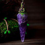 Украшения handmade. Livemaster - original item Pendant pendulum with amethyst.#3 a Series of