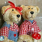 Куклы и игрушки ручной работы. Ярмарка Мастеров - ручная работа Мишки парочка. Handmade.