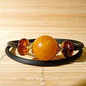 Украшения handmade. Livemaster - original item Amber bracelet on a string Br-221. Handmade.