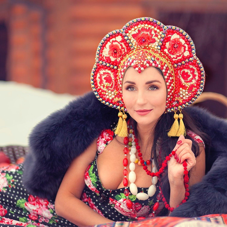 Кокошник из бусин, Кокошники, Москва, Фото №1