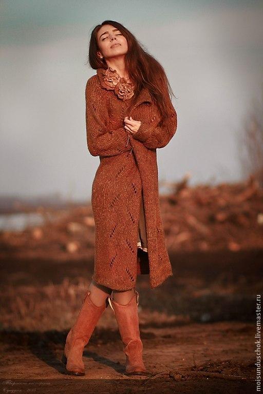 """Верхняя одежда ручной работы. Ярмарка Мастеров - ручная работа. Купить Пальто """" Золотые облака"""". Handmade. Рыжий, романтичный"""