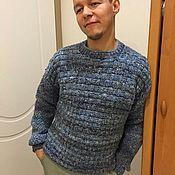 """Одежда ручной работы. Ярмарка Мастеров - ручная работа Мужской пуловер """"Деним"""". Handmade."""
