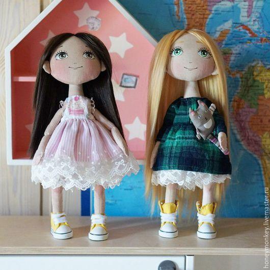 Коллекционные куклы ручной работы. Ярмарка Мастеров - ручная работа. Купить Текстильная кукла. Handmade. Кремовый, игрушка ручной работы