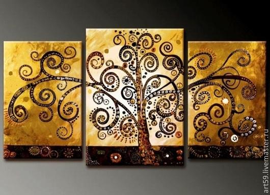 """Фантазийные сюжеты ручной работы. Ярмарка Мастеров - ручная работа. Купить """" Золотое дерево """". Handmade. Золотой, дерево"""