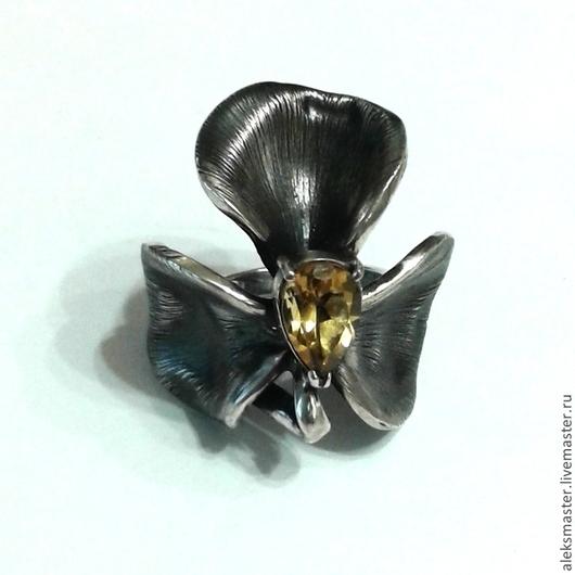 """Кольца ручной работы. Ярмарка Мастеров - ручная работа. Купить Кольцо цветок """"цитрин"""". Handmade. Разноцветный, кольцо с камнем"""