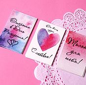Открытки handmade. Livemaster - original item Labels (tags) for bouquets and your work. Watercolor.. Handmade.
