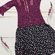 """Одежда ручной работы. Ярмарка Мастеров - ручная работа Вязаный кардиган """"Невесомость ягодного облака"""". Handmade."""