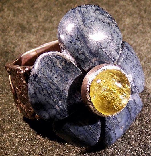 Кольца ручной работы. Ярмарка Мастеров - ручная работа. Купить Солнечный луч. Handmade. Комбинированный, радусит с гелеодором