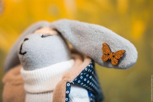 Куклы Тильды ручной работы. Ярмарка Мастеров - ручная работа. Купить Зайчик путешественник. Handmade. Зайка, фетр, замша