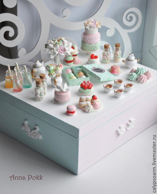 """Шкатулки ручной работы. Ярмарка Мастеров - ручная работа. Купить Шкатулка """"Sweet mint"""". Handmade. Разноцветный, торт, машмеллоу"""