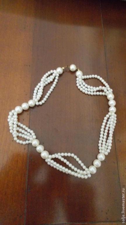 Винтажные украшения. Ярмарка Мастеров - ручная работа. Купить Бусы Винтаж 1960-е Англия Жемчуг Люцит 44 см Ожерелье. Handmade.