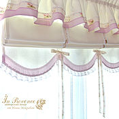 Для дома и интерьера handmade. Livemaster - original item Blinds Roman in the nursery with scalloped Shabby Chic. Handmade.