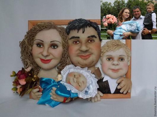 Портретные куклы ручной работы. Ярмарка Мастеров - ручная работа. Купить Семейный портрет.. Handmade. Портрет, портретная кукла