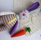 """Куклы и игрушки ручной работы. Ярмарка Мастеров - ручная работа Зайка """"Сплюшка"""".. Handmade."""