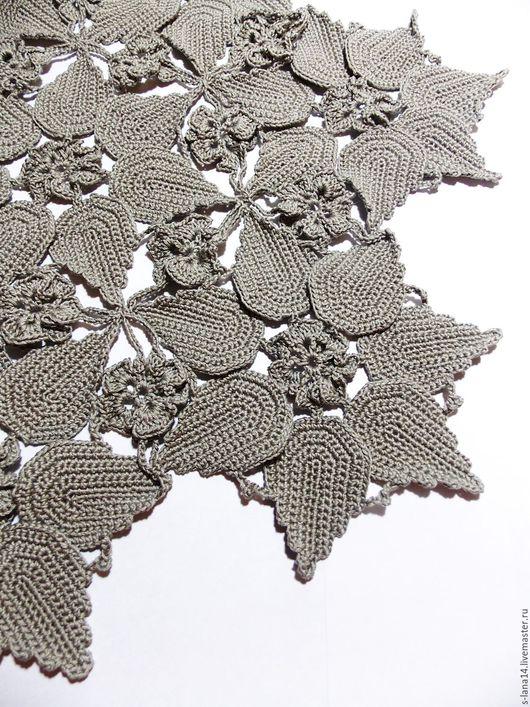 Текстиль, ковры ручной работы. Ярмарка Мастеров - ручная работа. Купить Салфетка в технике сцепного кружева. Handmade. Темно-серый