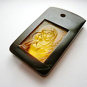 Украшения handmade. Livemaster - original item Igorevskaya mother of God natural amber R-259. Handmade.