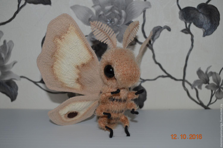 Ночная бабочка ореховая павлиноглазка, Игрушки, Парабель, Фото №1