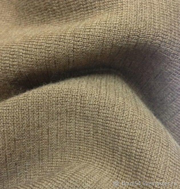 трикотажное полотно вязаное рукав 200 см хаки арт 2098 купить
