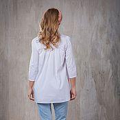 Одежда ручной работы. Ярмарка Мастеров - ручная работа Белая рубашка. Handmade.