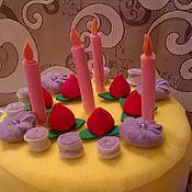 Куклы и игрушки ручной работы. Ярмарка Мастеров - ручная работа ТОртик текстильный. Handmade.