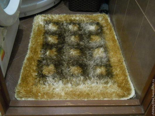 Ванная комната ручной работы. Ярмарка Мастеров - ручная работа. Купить коврик-пушистик. Handmade. Комбинированный, вязанный коврик