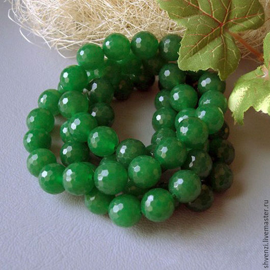 Для украшений ручной работы. Ярмарка Мастеров - ручная работа. Купить Нефрит зеленый 12 мм и 14 мм. Handmade.