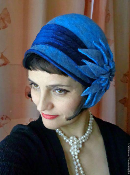 Шляпы ручной работы. Ярмарка Мастеров - ручная работа. Купить Isadora;шляпка в стиле ретро. Handmade. Felt, шляпка теплая