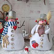 Куклы и игрушки ручной работы. Ярмарка Мастеров - ручная работа Копия работы Снеговик- лучший новогодний подарок. Тильда снеговик.. Handmade.