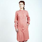 Одежда ручной работы. Ярмарка Мастеров - ручная работа Платье-рубаха персик. Handmade.
