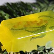 Косметика ручной работы. Ярмарка Мастеров - ручная работа Мыло Мимоза. Весна внутри) Подарок на 8 марта и просто так. Упаковка. Handmade.