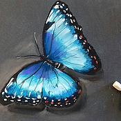 Картины и панно handmade. Livemaster - original item Butterfly Morpho peleides. Handmade.