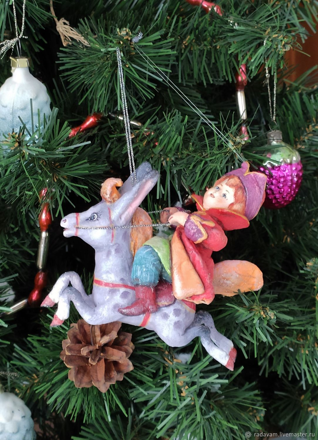 Cotton toy Ivan in the little humpbacked Horse, Christmas decorations, Shahovskaya,  Фото №1