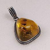 Украшения handmade. Livemaster - original item Pendant with Dominican amber.. Handmade.
